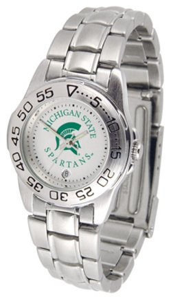 Michigan State Spartans Gameday Sport Ladies' Watch with a Metal Band Ncaa Sport Game Day Watch