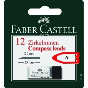Faber-Castell 10 x Zirkelminendose 2mm passend für alle Zirkelmodelle auf Blisterkarte