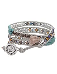 Lonna & Lilly Brazalete Textil Enrollable para Mujer con Cristales