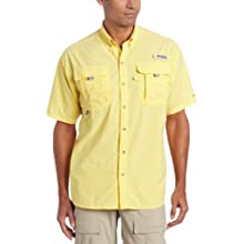Columbia Men's Bahama II Short Sleeve Shirt, Large, Sunlit