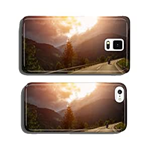 Motorcyclist in action in sunset light cell phone cover case iPhone6