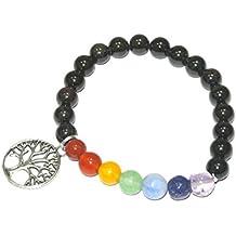 Garnet Beads 8 MM Chakra Healing TOL Charms Gemstone Bracelet Spiritual Gift w/ Free Velvet Pouche
