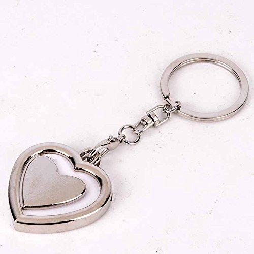 Photo Frame Custom Keyring Keychain DIY (Heart)