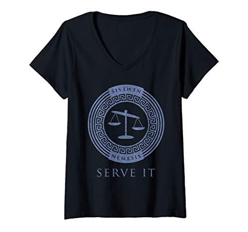 Womens Greek Goddess Shirt Nemesis Serve It Balance