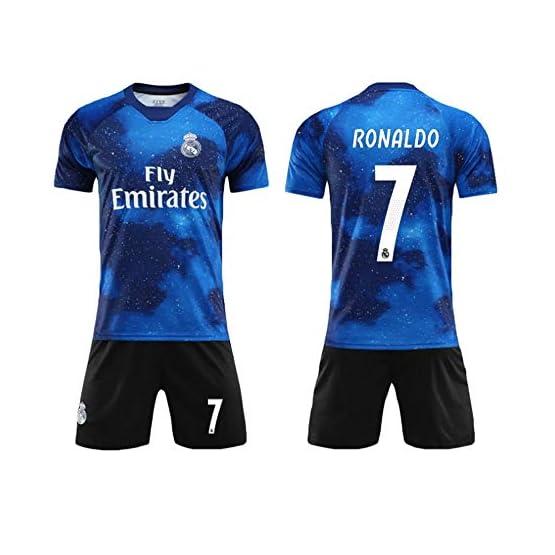 SEYE1° Costume De Football, Maillot du Real Madrid, Vêtement De Sport De Football N ° 7 C Ronaldo, Garçon De Football