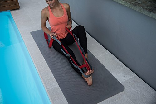 Yoga Strap for Stretching – Stretch Band with 12 Loops – Sport2People Hamstring Stretcher Belt – Physical Therapy Equipment for Best Flexibility Carry Bag & Workout Instruction Included