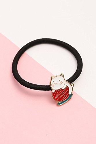 (Sell ??Lovely Cute cat Hair Ring Elastic Rope Ponytail Holder Korean drip Ring Hair shengpi tousheng Cartoon Girl Sweet Heart Tiara Ponytail Holder (coils)