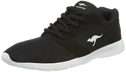 Kangaroos Jet White 5012 Nihu Black WoMen Black Trainers rIrqO