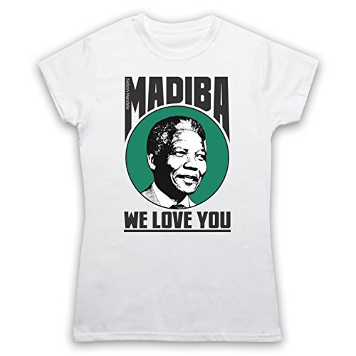 Nelson Mandela Madiba We Love You Camiseta para Mujer Blanco