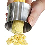 Einfagood Corn Tool, Large Size Corn Stripper, Corn Kernel Cutter, Stainless Steel(Brushed)