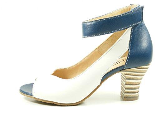 Venta genuina en línea Zapatos A046 Ghibi Damas Honda Talones De Las Sandalias Peep Toe Azul Nuevo Barato Venta Great Deals 9jTmzKW