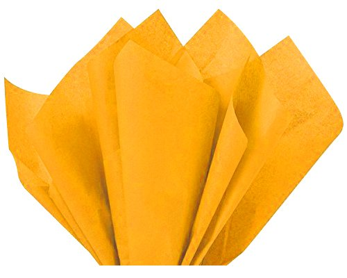 Goldenrod Dark Yellow Gold Bulk Tissue Paper 15 Inch x 20 In