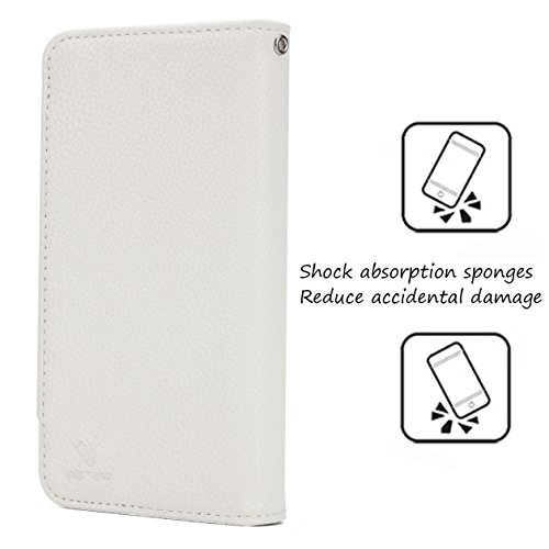 White Leather Purple Card Wallet Case Cover Slots 3 Built Closed Removable Phone iPhone Wallet KelaSip 1 Cash Magnetic Buckle Flip Warehouse in Case X Xs HOqtnWTwYS