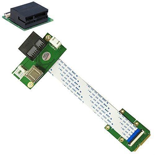 Mini PCI-E to PCI-E Express X1+USB Riser Card with High Speed FPC Cable (Pcie Mini)