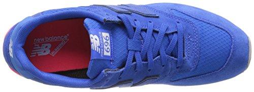 Nieuw Evenwicht Dames 696 V1 Sneaker Blauw / Energie Rood