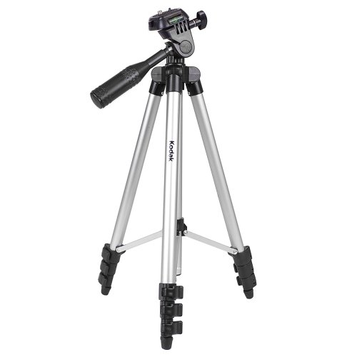 "50"" Kodak TR501 Superior Control Camera Tripod, 3 Way Pan Head, Bubble Level"