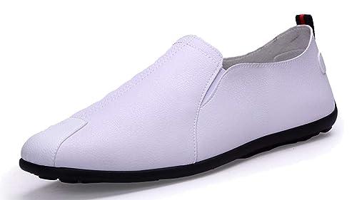 Femaroly - Mocasines para Hombre, Color Blanco, Talla 38 EU