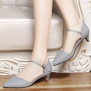 KHSKX-Single Shoe Spring And Summer New Women'S Shoes Silver In Fashion And Silver silvery Bs3nXSTr