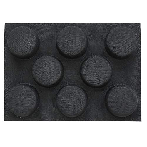 Silicone Hamburger Bread Forms Perforated Bakery Molds Non Stick Baking Sheets,Bread Buns Mold 8 Cavities
