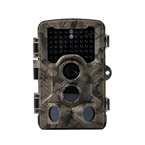 Crenova Trail Camera Hunting Camera 12MP 1080P Scouting Camera with Low Glow Black Infrared LEDs Color View 80ft Detection Range and 125Detection Angle