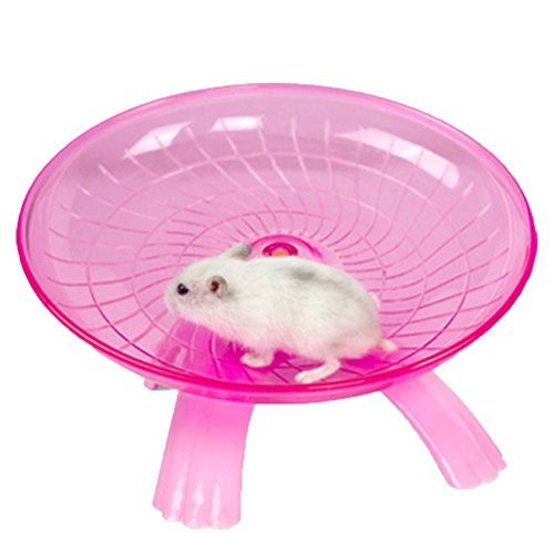 Red Squirrel Flying (Hamster Flying Saucer Exercise Wheel Jogging Running for Rat Gerbils Mice Chinchilla Guinea Pig Squirrel and Other Small Animal (Red))