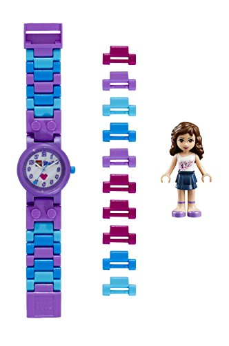 LEGO Watches and Clocks ' Lego Friends Olivia Kids' Watch with Minidoll' Quartz Plastic Casual watchMulti Color (Model: 8020165)