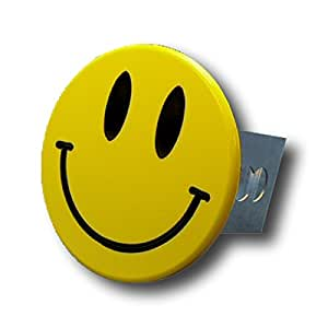 Smiley Face Chrome Trailer Hitch Plug