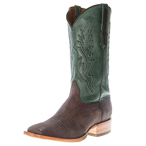 - Black Jack Boots Mens Black Jack Chocolate Teju Sanded Lizard Cowboy Boot 8 D Green