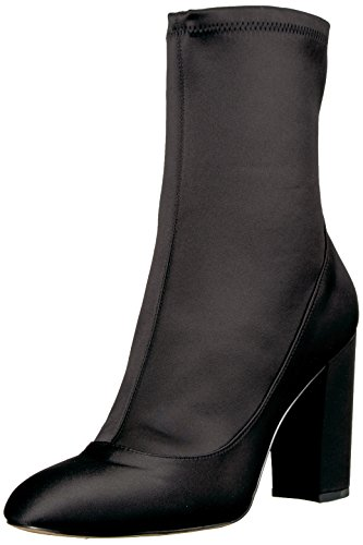 Boot Fashion Stretch Edelman Sam Women's Calexa Black Satin 1qIpw6