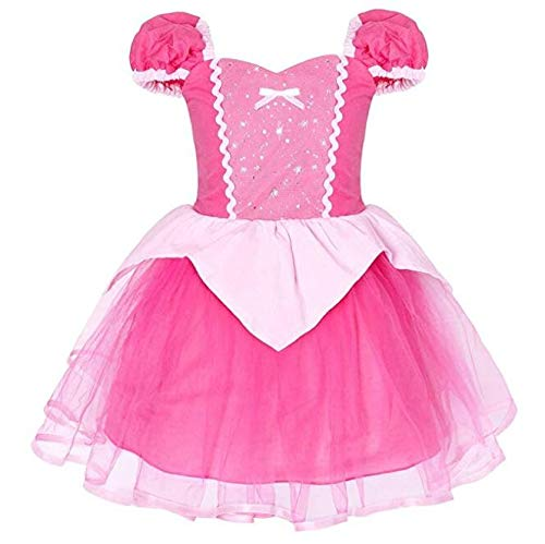 Girls New Princess Party Costume Aurora Dress