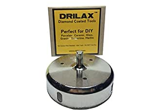 Drilax 3-1/2 Inch Diamond Hole Saw Glass Drill Bit