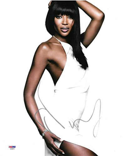 Campbell Autographed Photo - Naomi Campbell Signed Authentic Autographed Sexy 11x14 Photo PSA/DNA #AA68816