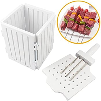 BBQ 36 Holes Meat Skewer Kebab Maker Box Machine Beef Meat Maker Grill Barbecue Kitchen Accessories Tools The Goods For Kitchen