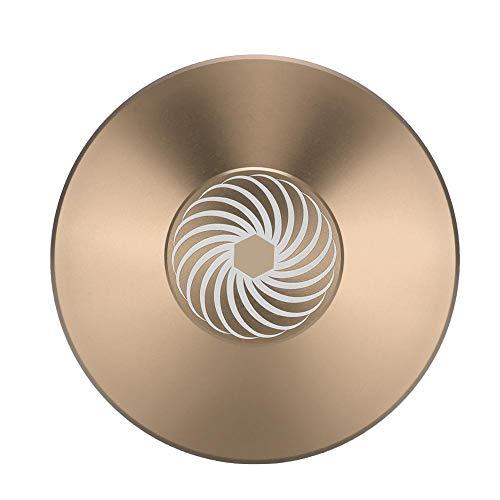 Garsent Platenstabilisatorklem, platenspeler-aluminium platen-gewichtsklem in premium kwaliteit, goud