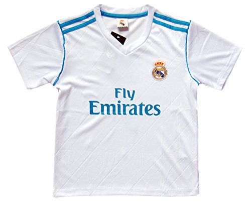 38504f91398 2017 2018 Real Madrid  7 Ronaldo Kids Home Soccer Jersey   Shorts Youth  Sizes