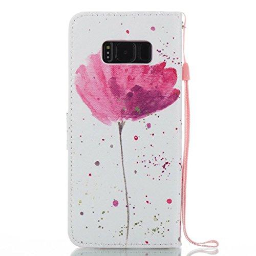 Samsung Galaxy S8 Funda peil con Tapa, Vandot 3in1 PU Cuero Capas Caja Carcasa de Teléfono Concha Shell Bumper Wallet Flip Case Cover con Soporte Función Tarjeta Ranura Billetera Botón Magnético para  Forever 13