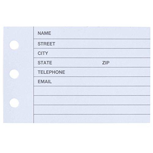 Printed Design Address Book Refills