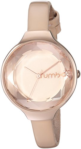 RumbaTime Women's 'Orchard Gem Patent' Quartz Metal and Leather Casual Watch, Color:Champagne (Model: 28515)