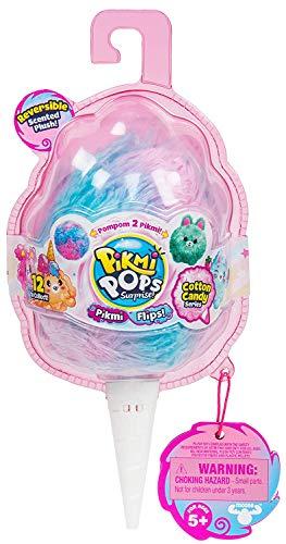 Indoor Toys JU Kids Girls (Bonus Pinky Pen) Pikmi POPS Cotton Candy Flips - Reversible Scented - Flip Plush