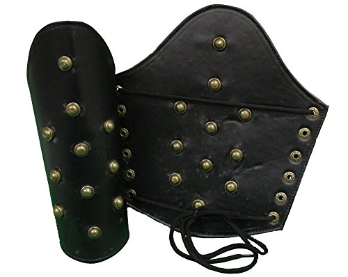 RedSkyTrader Mens Leather Medieval Costume Arm Guards One...