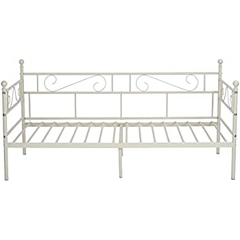 Amazoncom DHP Canopy Metal Bed Frame Twin Size White Kitchen