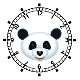 Giant Panda Bear Head (Black Nose) - Bear - JP Animal - WATCHBUDDY ELITE Chrome-Plated Metal Alloy Watch with Metal Mesh Strap-Size-Large ( Mens Size or Jumbo Womens Size )