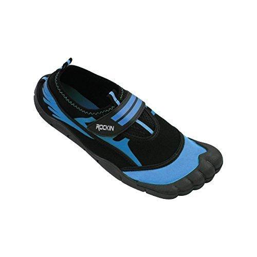 Rockin Footwear Kid's/Child Aqua Foot Water Shoes (11, Blue)