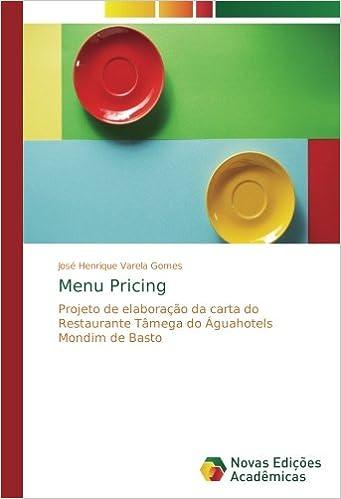 Menu Pricing: Projeto de elaboração da carta do Restaurante ...