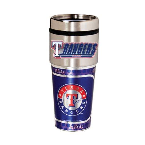 Coffee Mug Rangers (Texas Rangers 16oz. Stainless Steel Travel Tumbler/Mug)