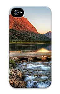iPhone 4S Cases & Covers - The Glacier National Park At Sunrise 3D Design Custom PC Hard Case Cover Compatible with iPhone 4S and iPhone 4