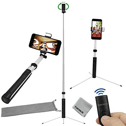 promo code fa9f0 845a5 Gurmoir 60inch Extendable Bluetooth Selfie Stick Tripod Stand with ...