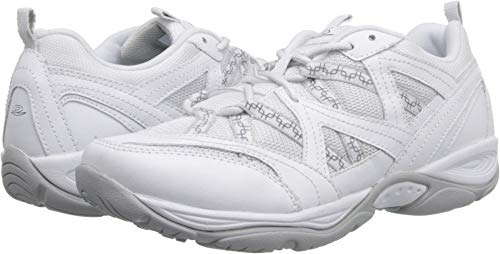 (Easy Spirit Women's Explore Map White Multi Leather 6 D US)