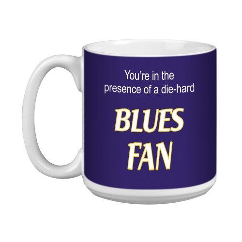Tree-Free Greetings XM28194 Blues Hockey Fan Artful Jumbo Mug, 20-Ounce