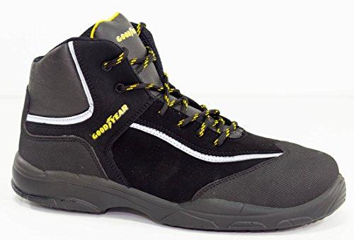 Goodyear G1388602C - Bota en piel nobuk, color negro